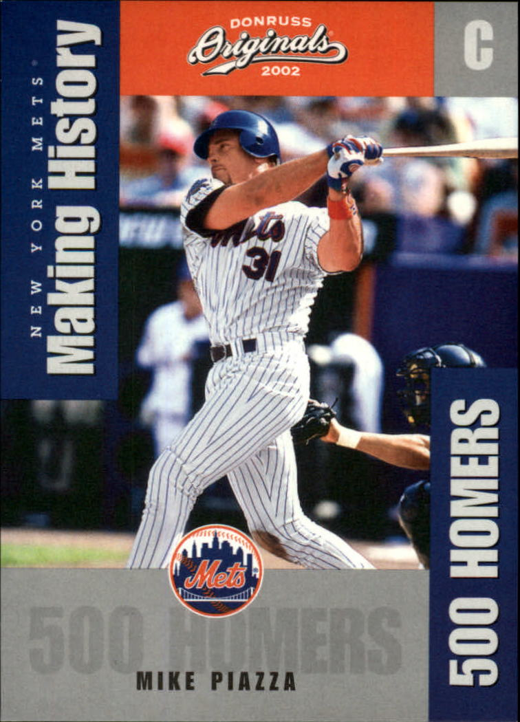 2002 Donruss Originals Making History #6 Mike Piazza