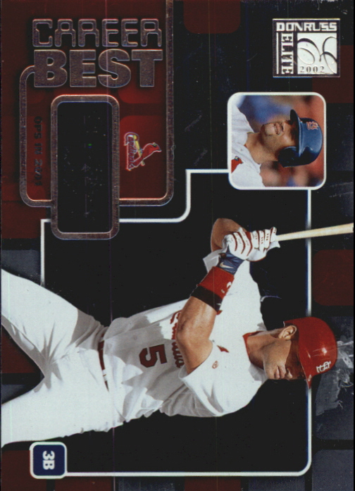 2002 Donruss Elite Career Best #1 Albert Pujols OPS/1013