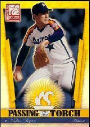 2002 Donruss Elite Passing the Torch #11 Nolan Ryan