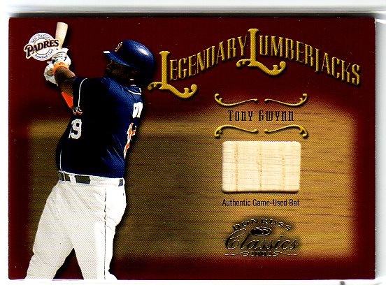 2002 Donruss Classics Legendary Lumberjacks #25 Tony Gwynn/500