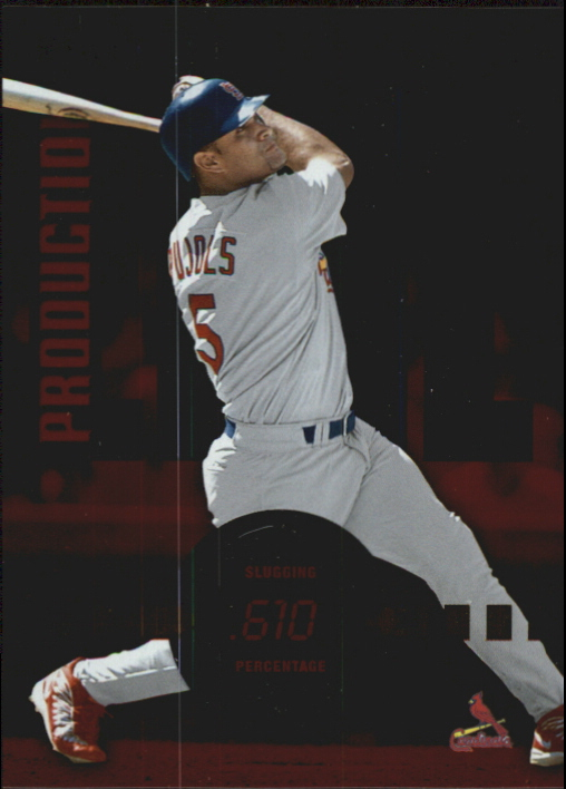 2002 Donruss Production Line #31 Albert Pujols SLG/510