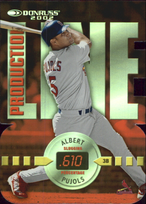 2002 Donruss Production Line Die Cuts #31 Albert Pujols SLG