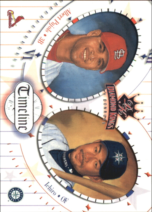 2002 Diamond Kings Timeline #TL5 I.Suzuki/A.Pujols