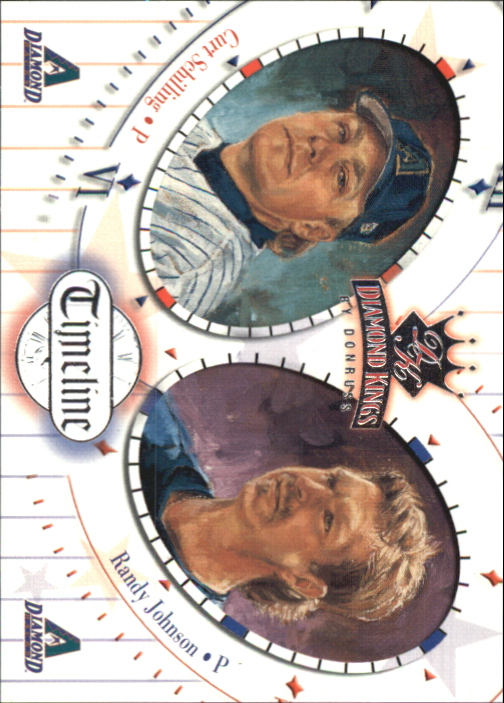 2002 Diamond Kings Timeline #TL6 C.Schilling/R.Johnson