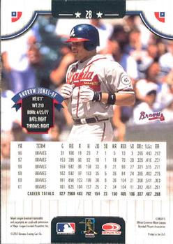 2002 Donruss #28 Andruw Jones back image