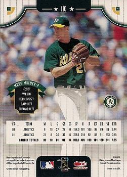 2002 Donruss #110 Mark Mulder back image