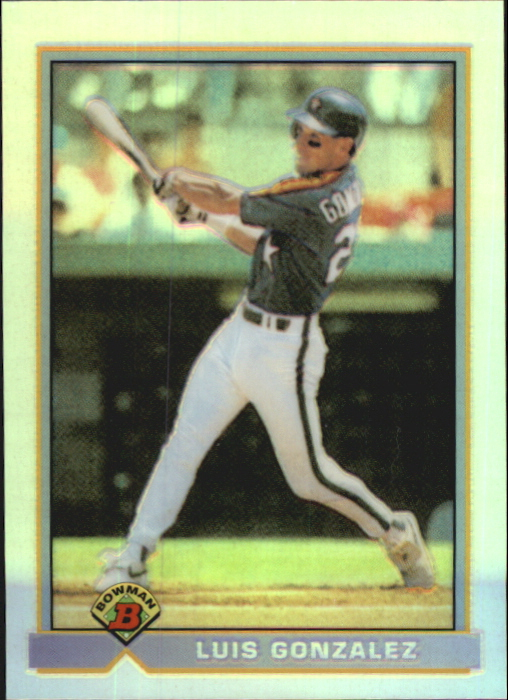 2002 Bowman Chrome Reprints Refractors #BCRLG Luis Gonzalez 91