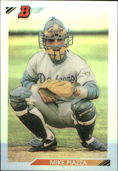 2002 Bowman Chrome Reprints Refractors #BCRMP Mike Piazza 92