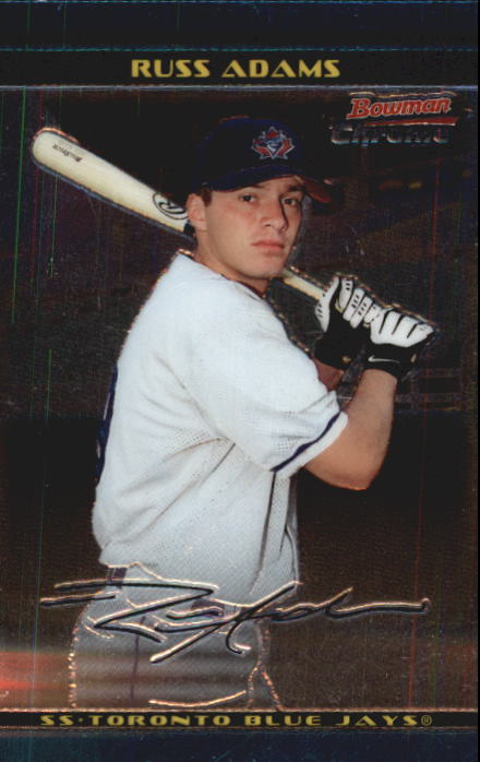2002 Bowman Chrome Draft #14 Russ Adams RC