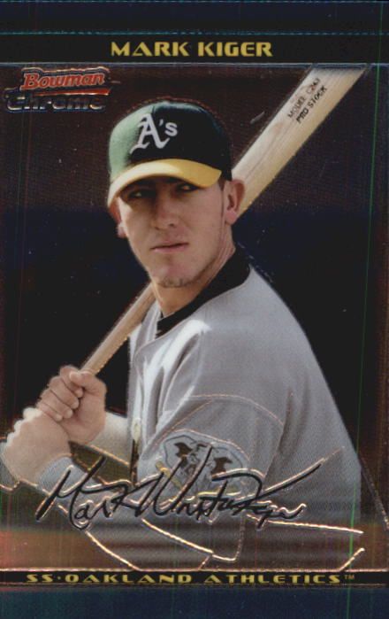 2002 Bowman Chrome Draft #27 Mark Kiger RC