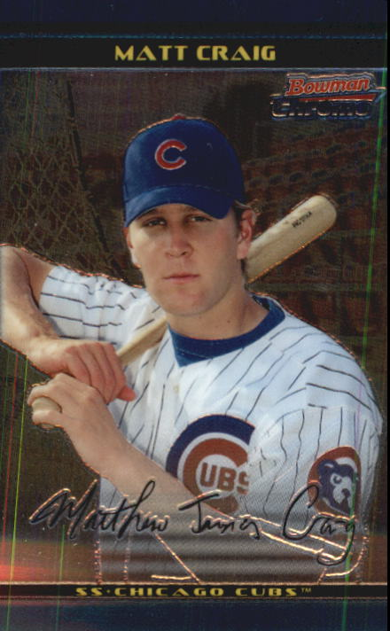 2002 Bowman Chrome Draft #29 Matt Craig RC