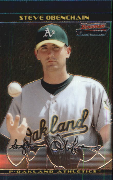 2002 Bowman Chrome Draft #37 Steve Obenchain RC