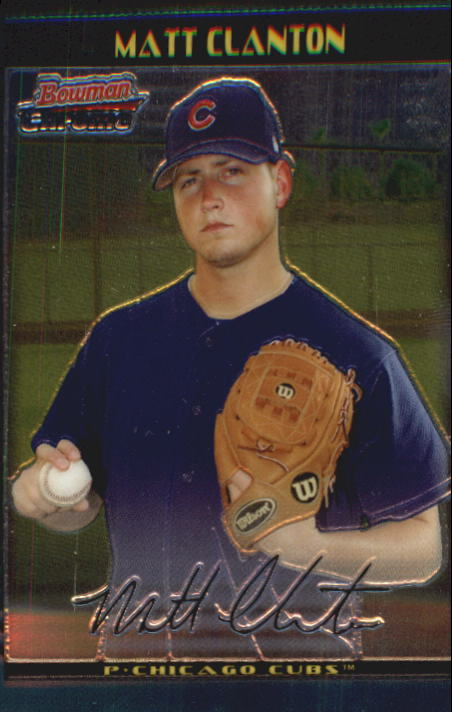 2002 Bowman Chrome Draft #38 Matt Clanton RC