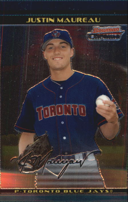 2002 Bowman Chrome Draft #54 Justin Maureau RC