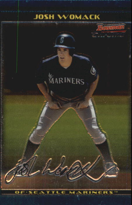 2002 Bowman Chrome Draft #69 Josh Womack RC