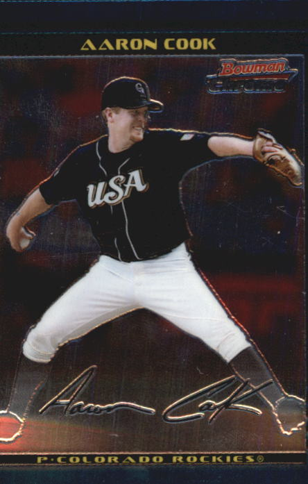 2002 Bowman Chrome Draft #122 Aaron Cook