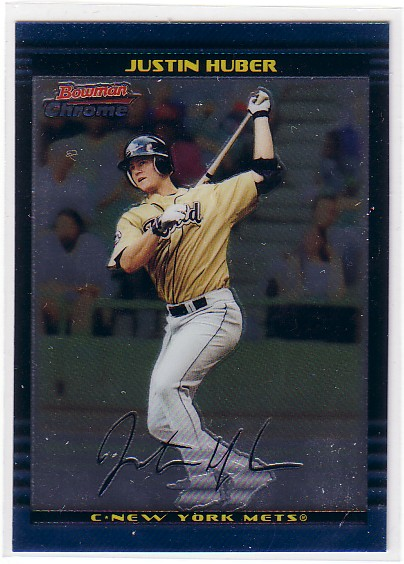 2002 Bowman Chrome Draft #152 Justin Huber RC