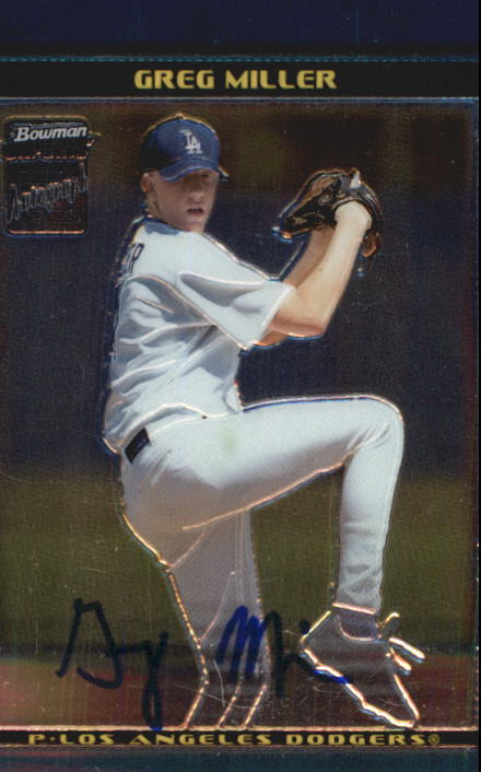 2002 Bowman Chrome Draft #171 Greg Miller AU RC