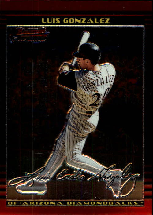 2002 Bowman Chrome #95 Luis Gonzalez