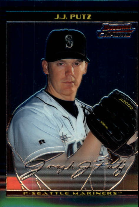 2002 Bowman Chrome #383 J.J. Putz SP RC