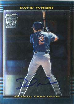 2002 Bowman Chrome #385 David Wright AU A RC
