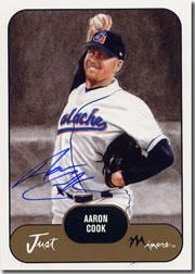 2002 Just Prospects #42 Aaron Cook AU