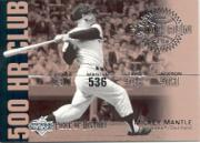 2002 UD Piece of History 500 Home Run Club #HR4 Mickey Mantle