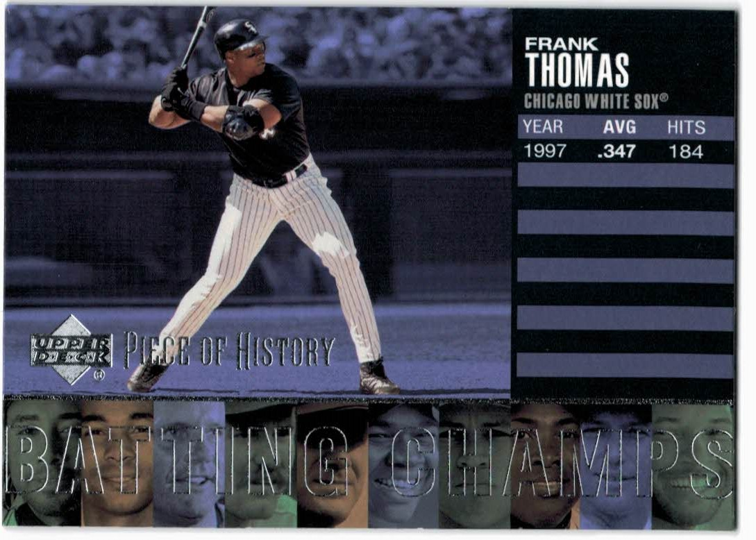 2002 UD Piece of History Batting Champs #B2 Frank Thomas