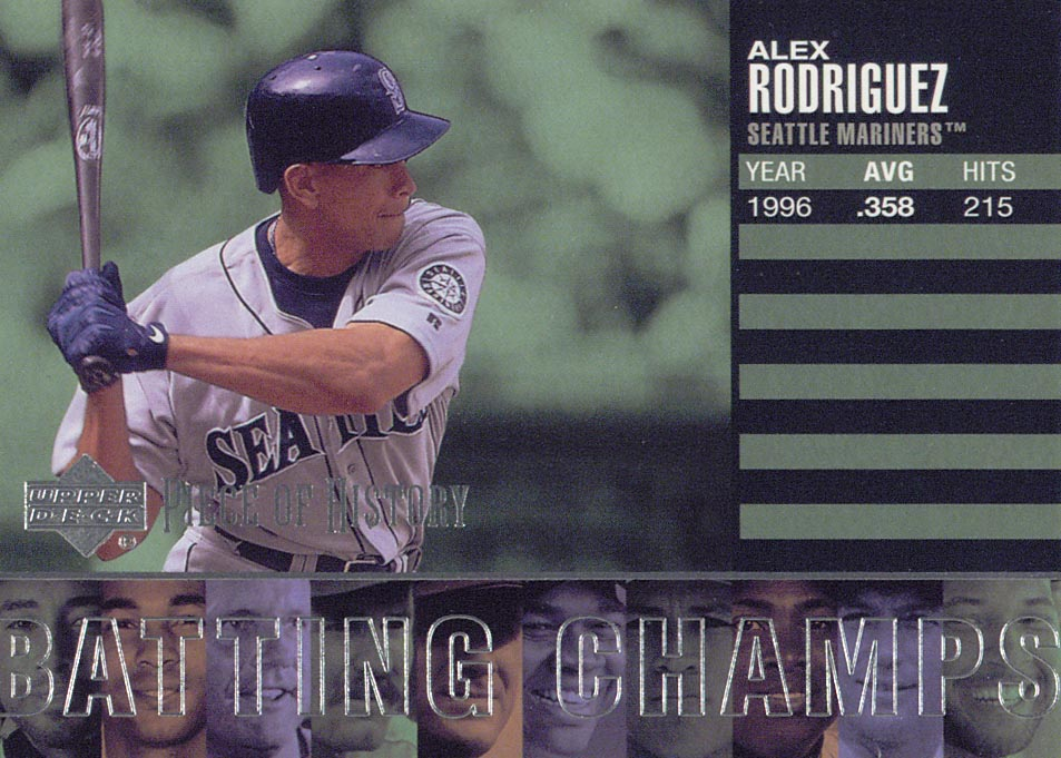 2002 UD Piece of History Batting Champs #B10 Alex Rodriguez