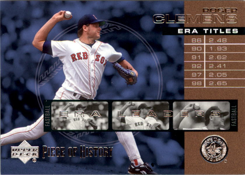2002 UD Piece of History ERA Leaders #E9 Roger Clemens