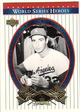 2002 Upper Deck World Series Heroes #30 Sandy Koufax front image