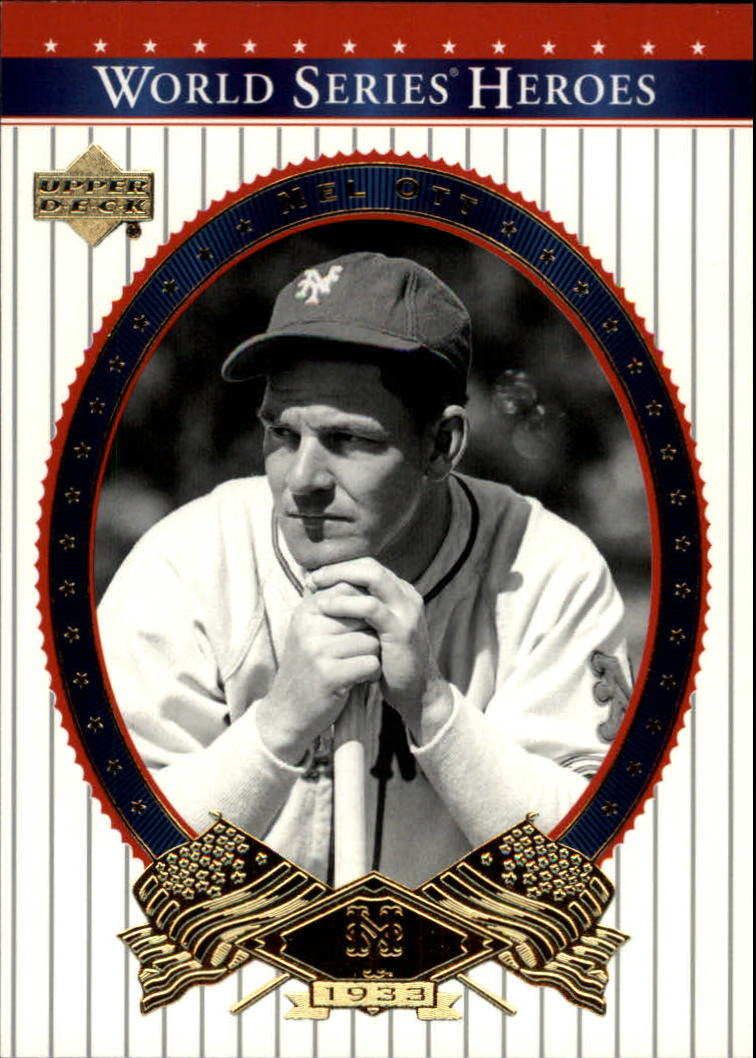 2002 Upper Deck World Series Heroes #37 Mel Ott