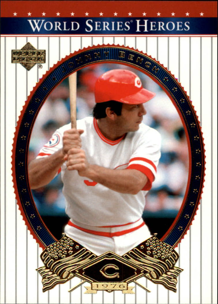 2002 Upper Deck World Series Heroes #67 Johnny Bench