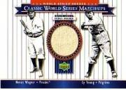2002 Upper Deck World Series Heroes Classic Match-Ups Memorabilia #MU3 H.Wagner Pants/Young