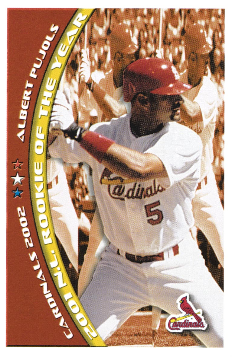 2002 Cardinals Safety #17 Albert Pujols