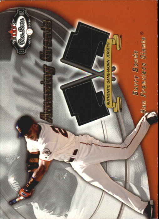 2002 Fleer Box Score Amazing Greats Dual Swatch #2 Barry Bonds