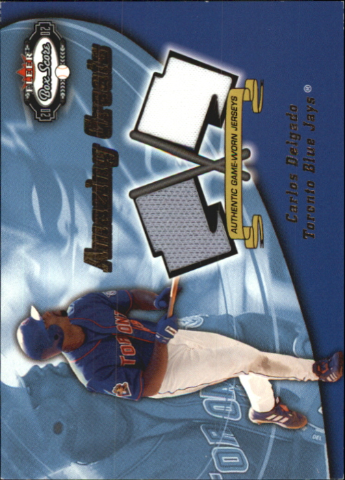 2002 Fleer Box Score Amazing Greats Dual Swatch #4 Carlos Delgado