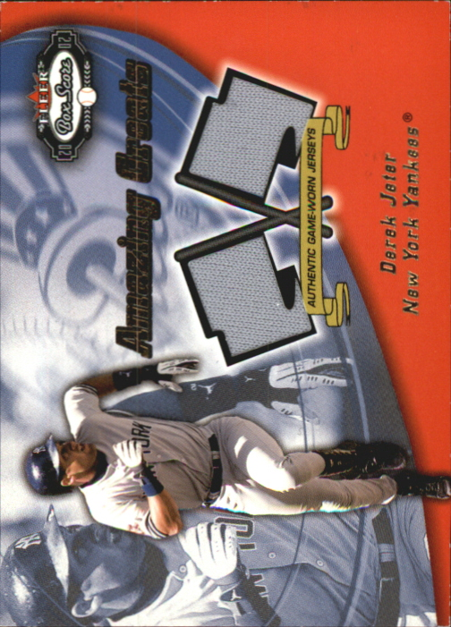 2002 Fleer Box Score Amazing Greats Dual Swatch #7 Derek Jeter