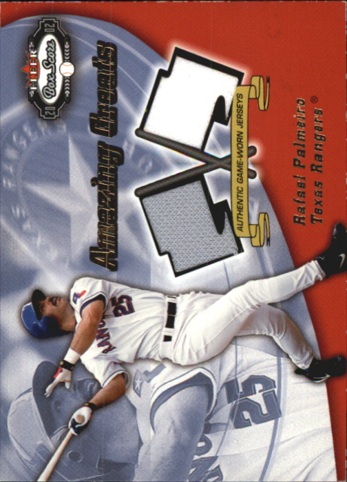 2002 Fleer Box Score Amazing Greats Dual Swatch #9 Rafael Palmeiro