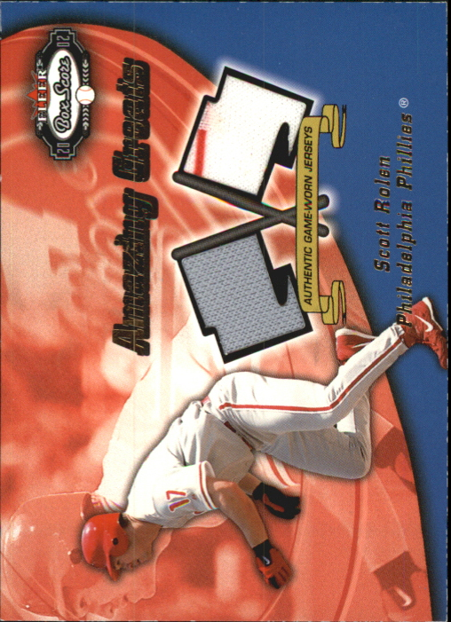 2002 Fleer Box Score Amazing Greats Dual Swatch #12 Scott Rolen