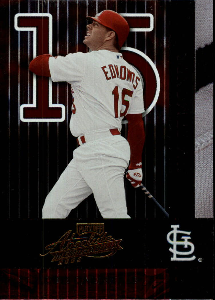 2002 Absolute Memorabilia #136 Jim Edmonds
