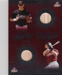 2002 Absolute Memorabilia Team Tandems Materials #14 Jeff Bagwell Bat/Craig Biggio Bat