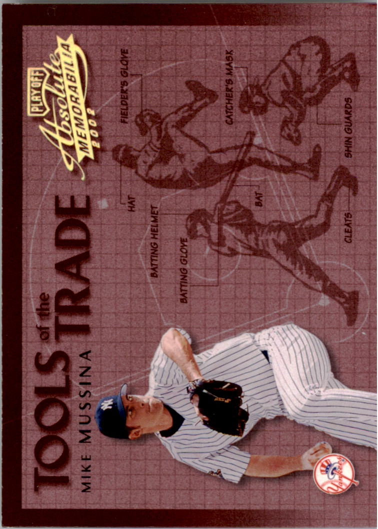 2002 Absolute Memorabilia Tools of the Trade Gold #1 Mike Mussina