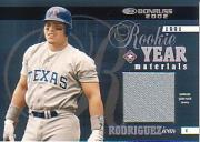 2002 Donruss Rookie Year Materials Jersey #3 Ivan Rodriguez