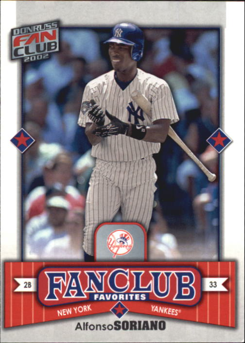 2002 Donruss Fan Club #287 Alfonso Soriano FC