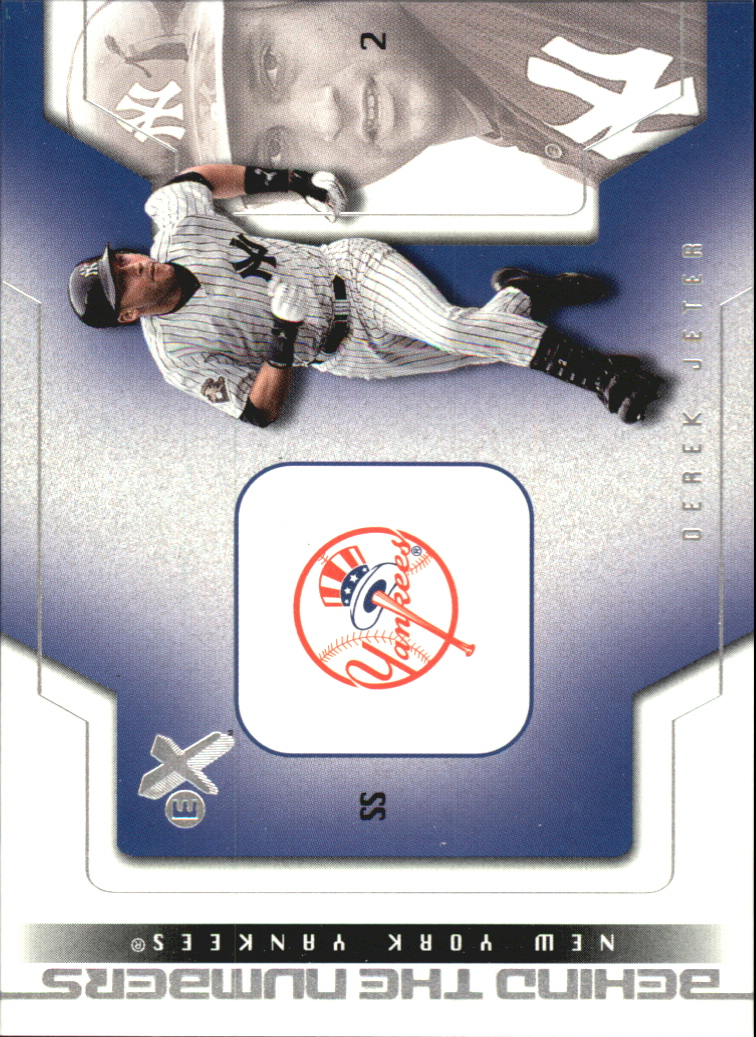 2002 E-X Behind the Numbers #32 Derek Jeter