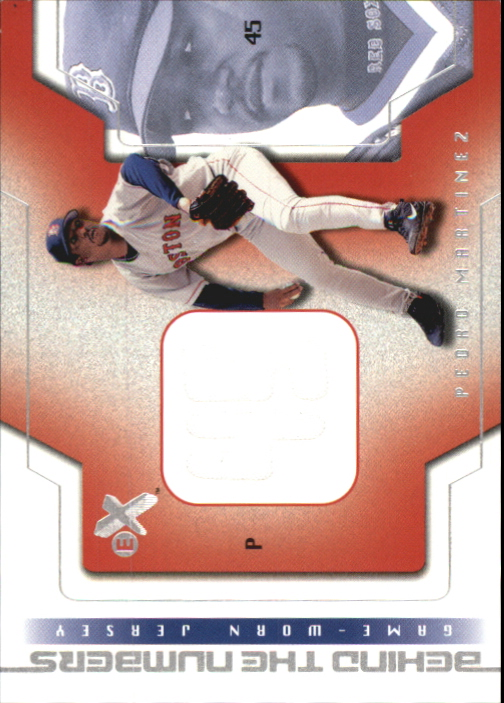 2002 E-X Behind the Numbers Game Jersey #15 Pedro Martinez