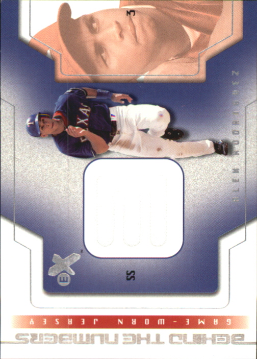 2002 E-X Behind the Numbers Game Jersey #20 Alex Rodriguez