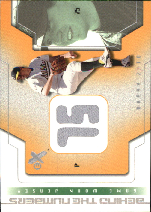 2002 E-X Behind the Numbers Game Jersey #24 Barry Zito