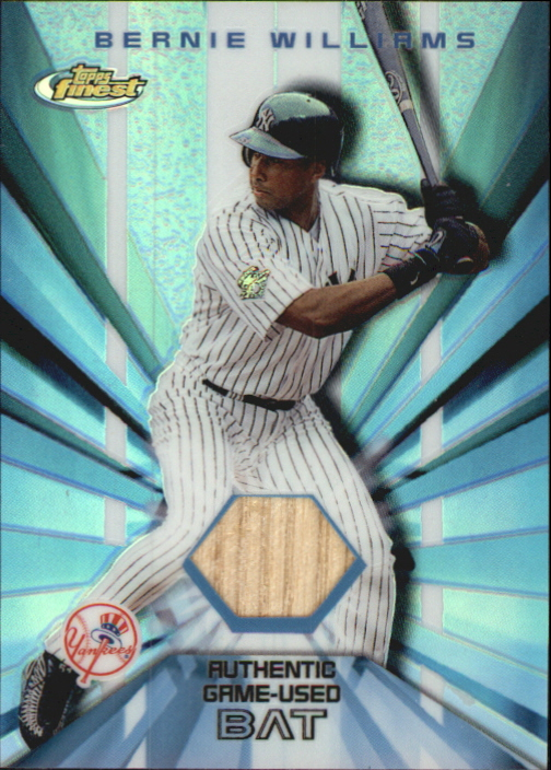 2002 Finest Bat Relics #FBRBW Bernie Williams